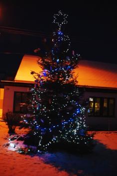 2014 Vánoční stromeček poprvé svítí ...