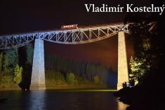 Večerní fotografování železničního mostu 6.10.2017